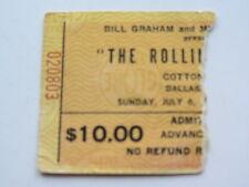 The Rolling Stones ticket 6TH Juillet 1975, Cotton Bowl, Dallas, États-Unis