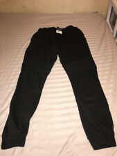 TOPMAN BLACK MEN'S SKINNY BIKER JOGGER LARGE NWT SWEATPANTS CUFFED