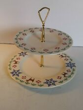 Pfaltzfeaff Nordic Christmas 2-Tiered Serving Tray.