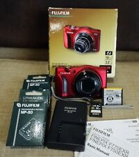 Fujifilm F770EXR 16MP 20x Zoom RED GPS + Xtra Fuji Batteries, 32G Excellent