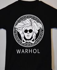 Black Warhol Versace logo 3XL t shirt mens fashion Art (Superlatives Brand)