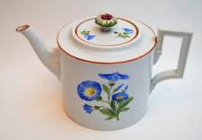 "Antique 1770s MEISSEN Crossed Swords w Star Mark MORNING GLORY 5 1/2""h Teapot"