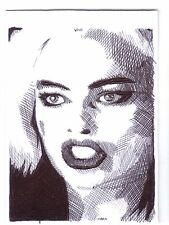 Aceo sketch card margot robbie comme harley quinn 5 de suicide squad film