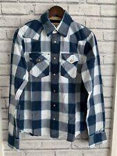 Hollister Men's Size S Blue Check Shirt VGC