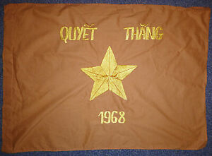 NVA FLAG - Tet Offensive 1968 - Vietnam War - NORTH VC ARMY - Quyet Thang - 5082