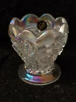 SMITH CARNIVAL GLASS IRIDIZED TOOTHPICK HOLDER