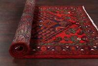 NEW Tribal Geometric Hamedan Area Rug Wool Hand-knotted Oriental Carpet 3x5 ft.