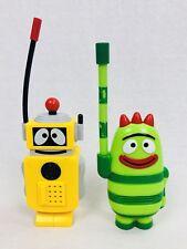 Yo Gabba Gabba Walkie Talkies Toy Figures Plex and Brobee TESTED RARE Free SH