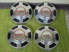"73-87 GMC 3/4 1 Ton Dog Dish HUBCAPS 12"" Set of 4 Pickup Truck 16 16.5"" C25"