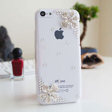 *SALE* 3D Flower Bling Glossy Diamond Crystal Case Cover For iPhone 5s 5c SE 6P