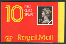 HD1a / DB17(11)B Harrison with Postal Rates Thin Cover 10 x 1st Class Booklet