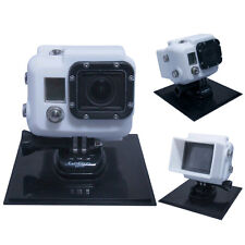Black Silver White Silicon Case Cover Protector for GoPro HD HERO 3 LCD BacPac