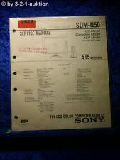 Sony Service Manual SDM N50 Color Computer Display (#2629)