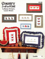Lollipop Designs COUNTRY 3-OF-A-KIND Leaflet 4 Counted Cross Stitch