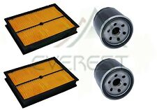 NEW 2 AIR FILTER CLEANER & OIL FILTER FOR HONDA GX620 20HP V TWIN GAS ENGINES