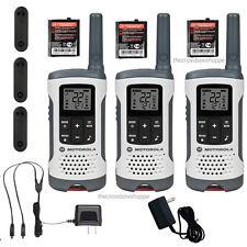 Motorola Talkabout T260Tp Walkie Talkie 3 Pack 25 Mile Two Way Radios Noaa