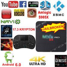 4K Android 6 Pro M XQ TV BOX S905X Marshmallow Quad Core 17.3+ Free Keyboard