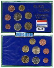 Euro Coins of Luxembourg Year 2012, Complete set of 8 values (1c to 2 euros) {N}