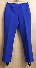 SASKA PARROTT Norway Vintage Ski Pants Blue Stirrup Wool Blend Ljungberg 12 S M