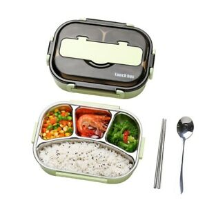 Lunch Box for Student and Office Worker Stainless Steel Bento Box w/ Tableware