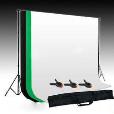 Hintergrundsystem Hintergrundstoff Grün Schwarz Weiß 3x1,6M Fotostudio SET E