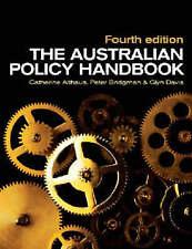 THE AUSTRALIAN POLICY HANDBOOK by Althus et al. - 4th ed - Pback