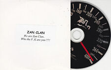 CD CARDSLEEVE COLLECTOR ZAN CLAN 1T WE ARE ZAN CLAN WHO THE F...K ARE YOU ??