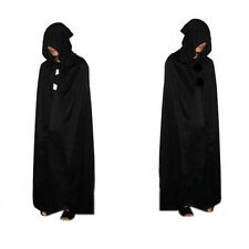 Gothic Hooded Cloak Wicca Robe Medieval Witchcraft Cape Halloween Costume