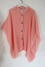 Turbulence Lagenlook Trendige Bluse Tunika EG 48 50 52 Plissee rosa NEU