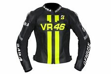 VALENTINO ROSSI VR 46 MOTORCYCLE MOTORBIKE LEATHER RACING MOTOGP JACKET
