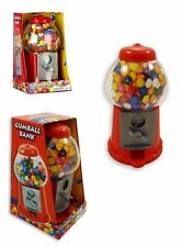 """9"""" Mini Gumball Machine Coin Operated Bubble Gum Bank Vintage Classic Design New"""