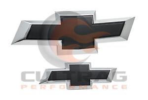 2018-2020 Traverse Genuine GM Front & Rear Black Bowtie Emblems 84046094
