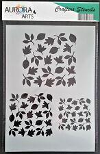 Stencil by Aurora Arts A4 Autumn leaves 190mic Mylar craft stencil 231