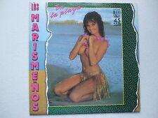 LOS MARISMENOS - EN LA PLAYA 45rpm 12'' LATIN POP BUSTY NUDE CHEESECAKE SEXY PS
