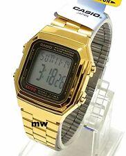 Casio Gold Retro Vintage Classic Alarm Digital Unisex Watch A178 A-178WGA-1A New