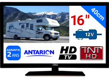 "TV TNT HD LED 16"" 39CM TNTHD USB - NEUF + GARANTIE - CAMPING CAR 24 12 VOLTS 12W"