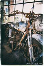 Three Poster Set,12x18in. Vintage Indian Motorcycle, Garage Man Cave Harley