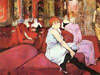 HENRI DE TOULOUSE LAUTREC MOULIN ROUGE OLD MASTER ART PAINTING PRINT 1281OMA