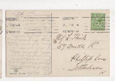 Miss L Thick Arnold Road Phillip Lane Tottenham London 1913 297b
