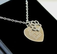 Personalised Pet Loss Memorial Necklace Pendant Any Engraving Keepsake Gifts