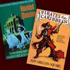 Disneyland New Orleans Square 2 Poster Prints Haunted Mansion Pirates 3110