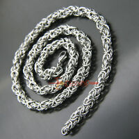 Stainless Steel Turkish Round Chain Maille Necklace Chainmaille Chain Mail 7/8mm