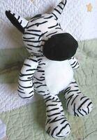 "The Manhattan Toy Company Sleepy Zebra Plush Stuffed Floppy Toy Lovey EUC 15"""