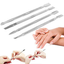 HK- 4 Pcs Stainless Steel Nail Cuticle Pusher Remover Manicure Pedicure Tool Fin
