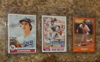 (3) Bob Welch 1979 Topps Rookie Card 1982 1988 Score Traded Lot A's Dodgers RC