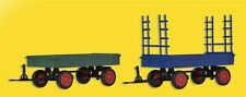 Kibri 15702 FENDT remorque à roues en caoutchouc,2 pièces, KIT DE MONTAGE, H0