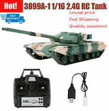 3899A-1 1/16 Scale 2.4G RC Tank Model Anti-Impact and Durable Camouflage Green❤I