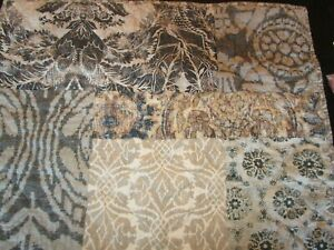 1 Pottery Barn Gray Multi Tessa Handcrafted Cotton Linen Patchwork Sham standard