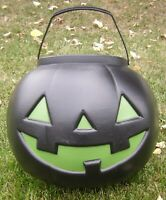 Jumbo Vintage Black Green Jack o Lantern General Foam Plastic pumpkin blow mold