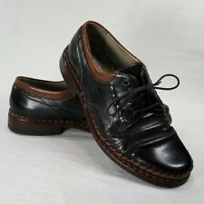 Galizio Torresi Italian Mens 42 Weave Bicolor Leather Black Brown Dress Shoes